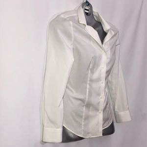 Talbots Tops - Talbots crisp white button down long sleeve shirt